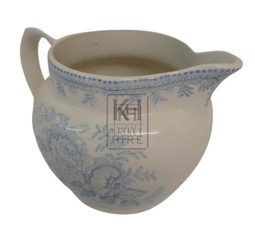 Blue china milk jug