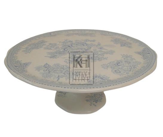 Blue china cake stand