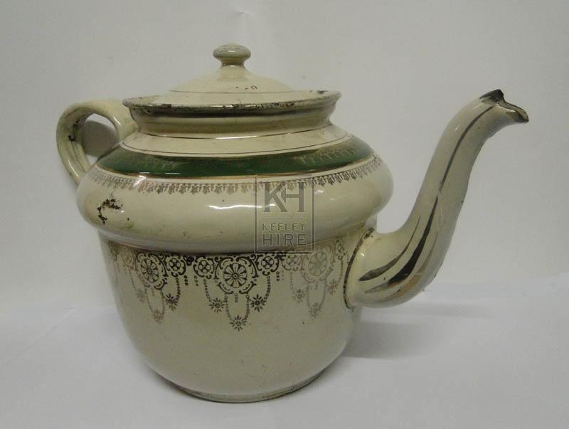 Green period tea pot