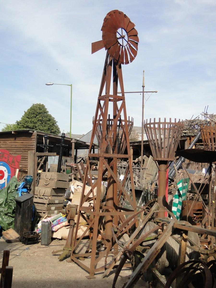 Tall Weathered Farm Wind machine