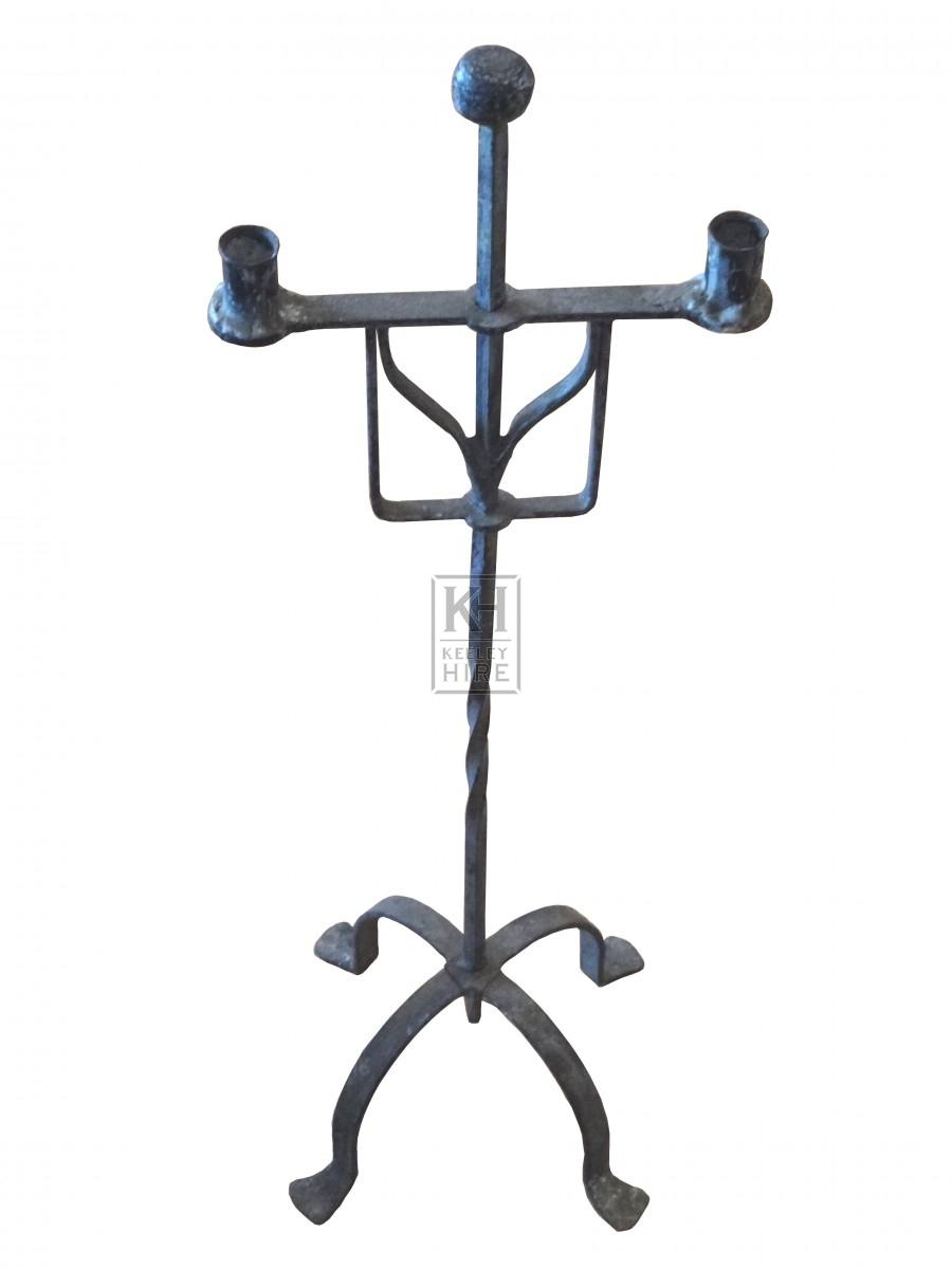 Tall Iron Dual Candleholder
