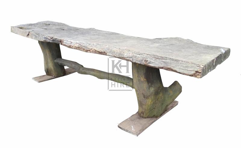 Rustic Tree Bench
