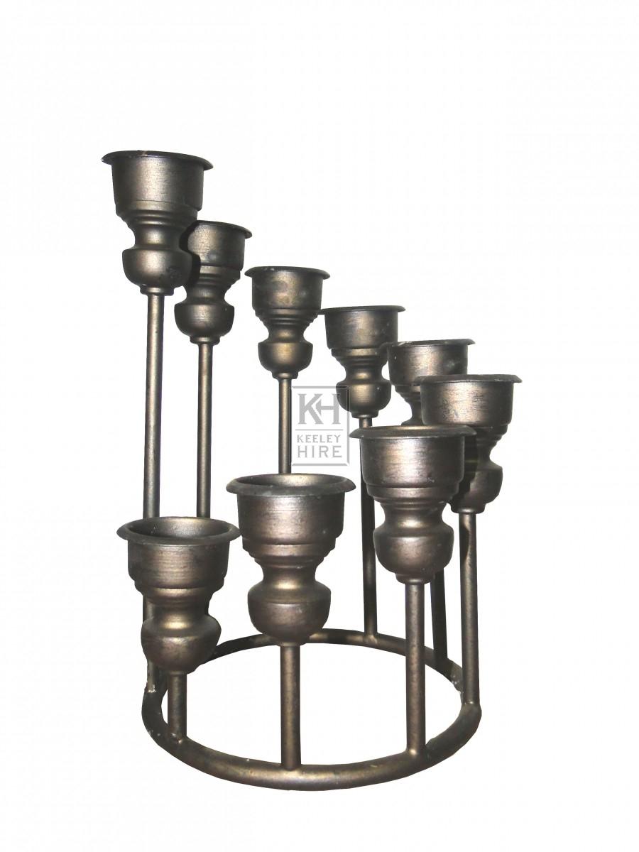 9 Point Spiral Circular Candlestand