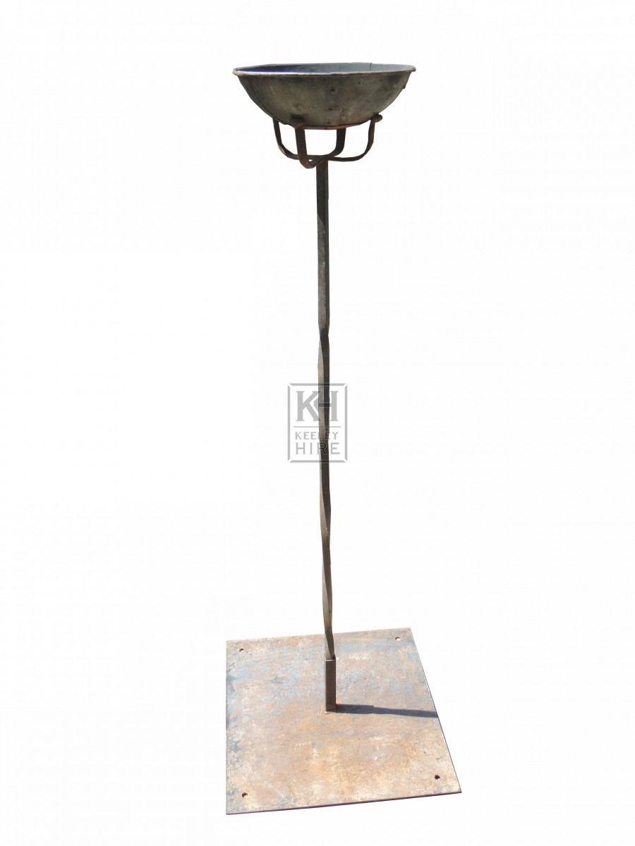 Floorstanding Bowl Flambeaux