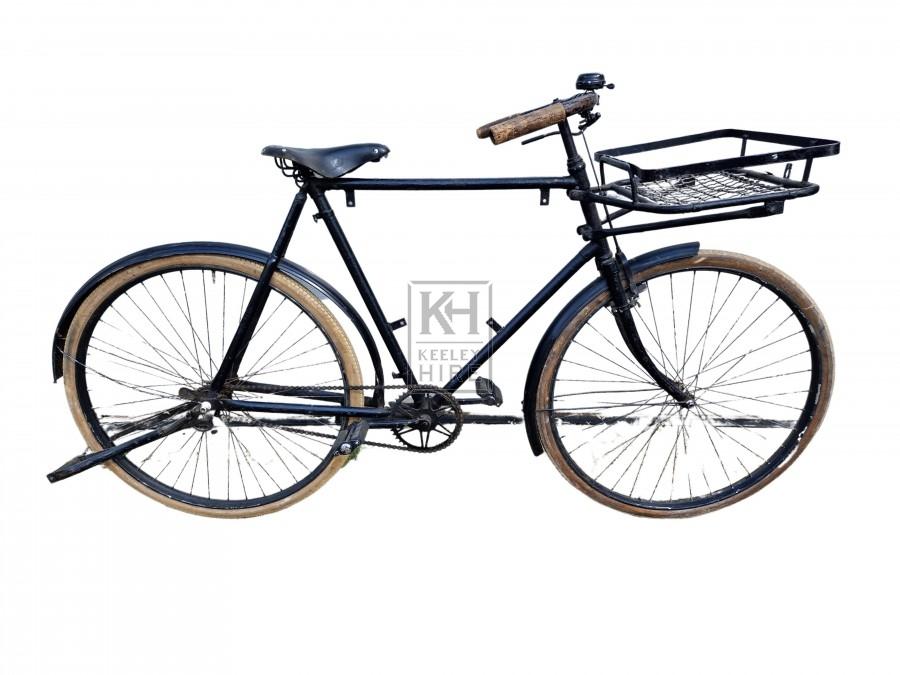 Period Black Bike With Basket