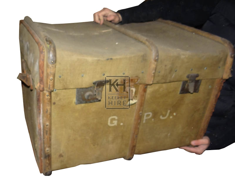 Large worn luggage trunk