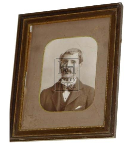 B&W photo of Victorian Gent - framed