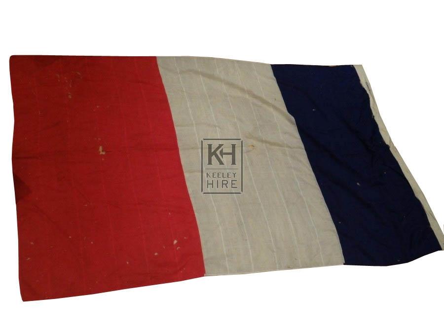 Extra Large Weathered French Flag