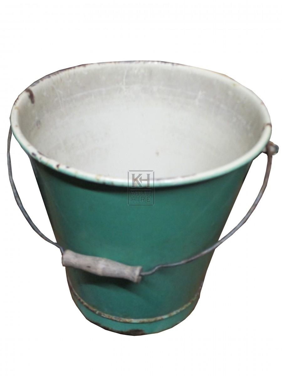 Enamel Green Bucket