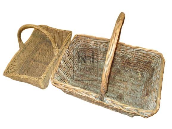 Large Rectangle Wicker Picnic basket