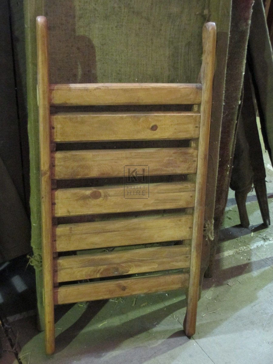 Small Slatted Wooden Stretcher