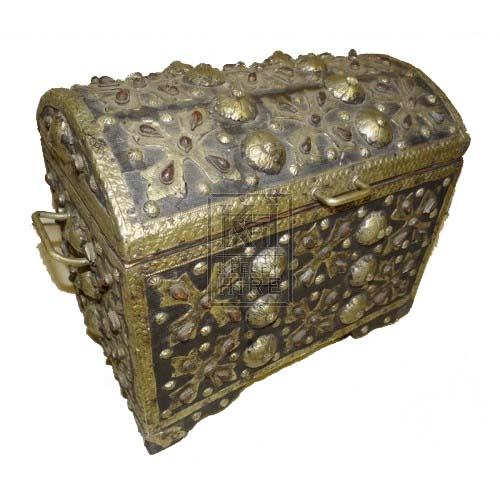 Black & gold ornate chest