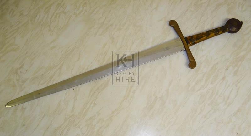 Lightweight steel sword
