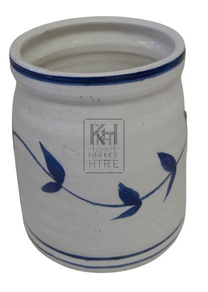 White delft china jar
