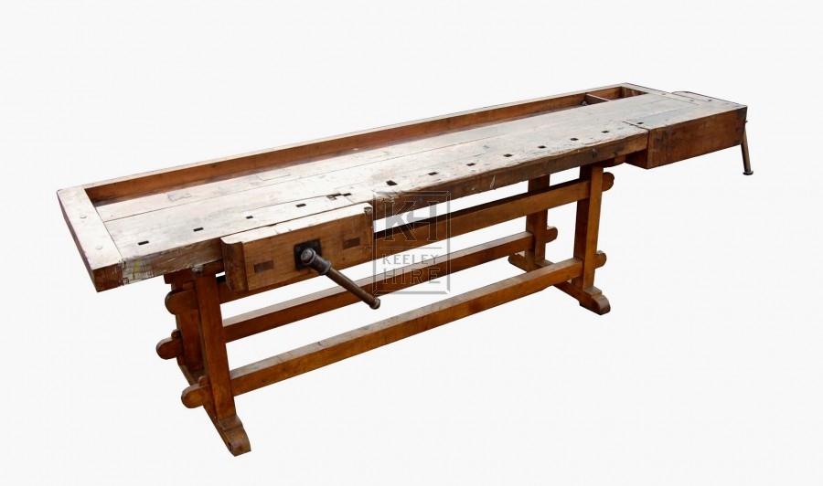 Large antique workbench