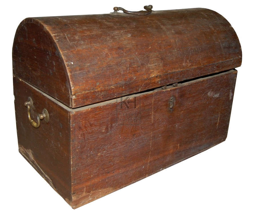 Wood Curved Chest with handles