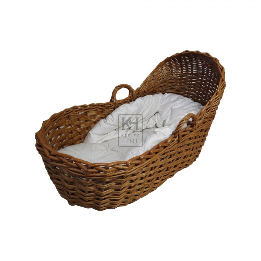 Dark wicker cradle
