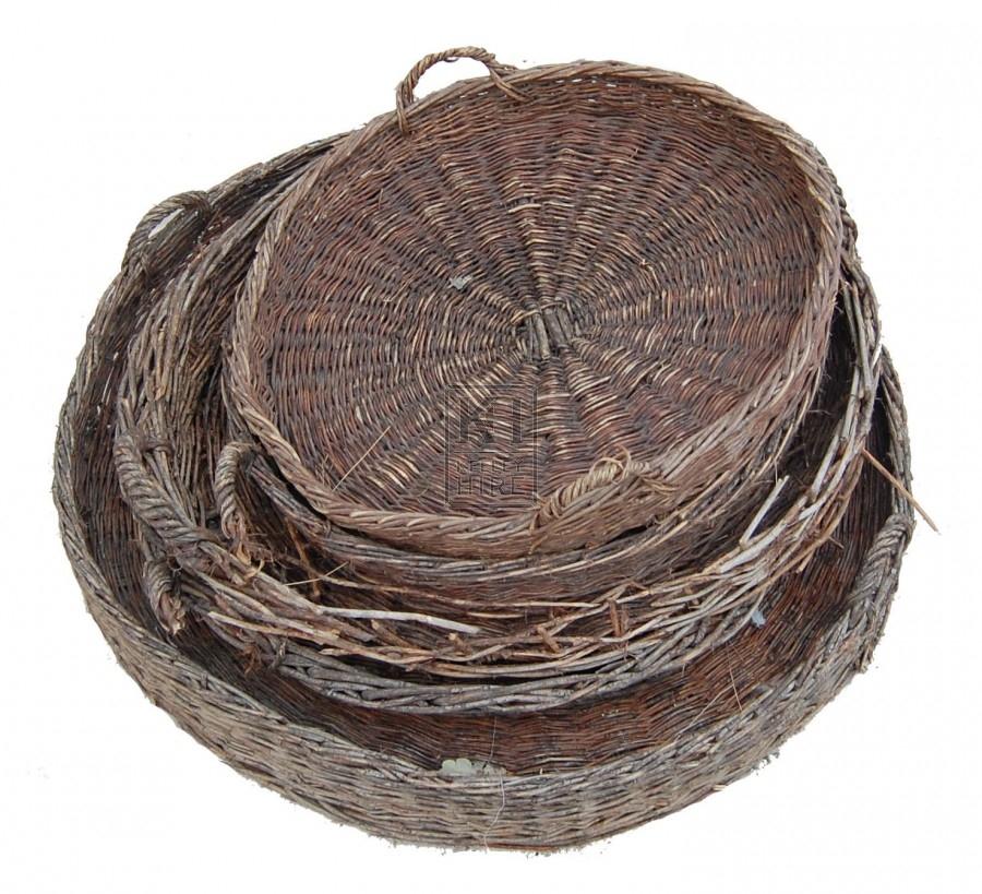 Round Flat Baskets