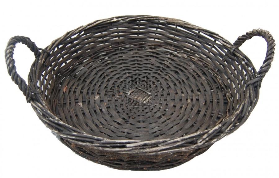 Dark Flat 2-Handle Basket