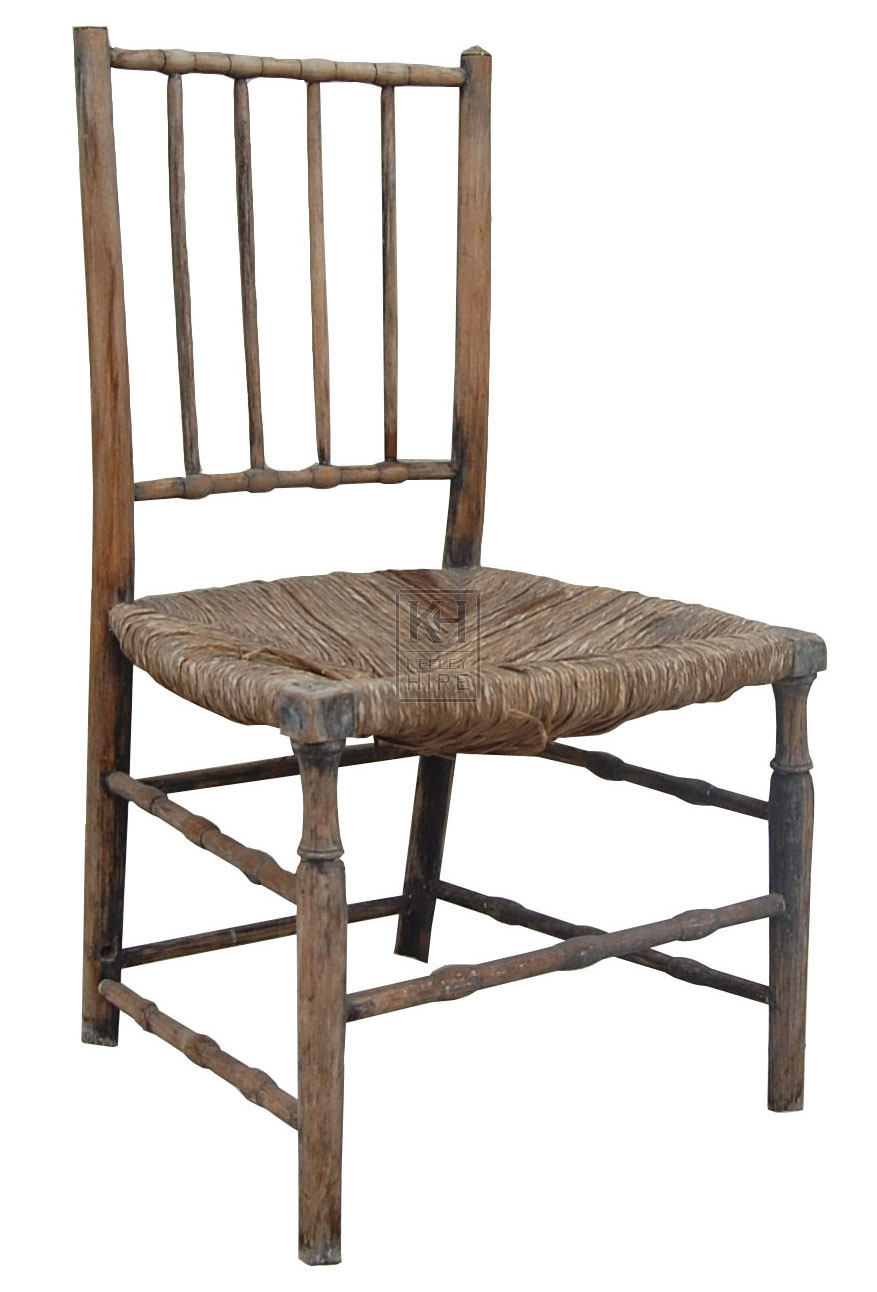 Carved Leg Woven Seat Chair