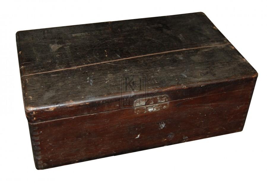 Small dark wooden box