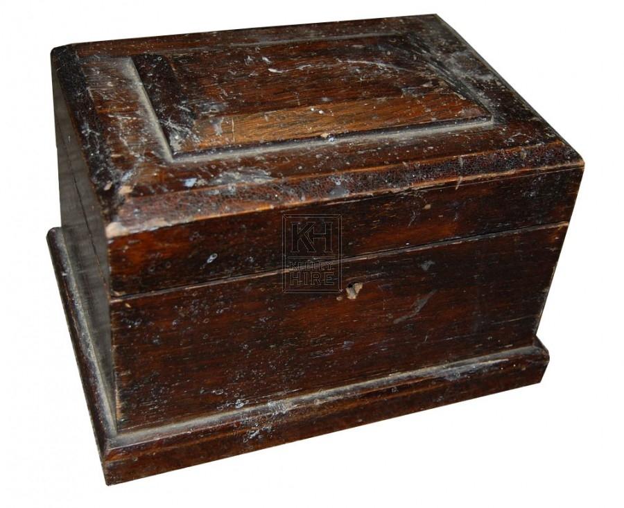 Small Shaped Dark Wooden Box