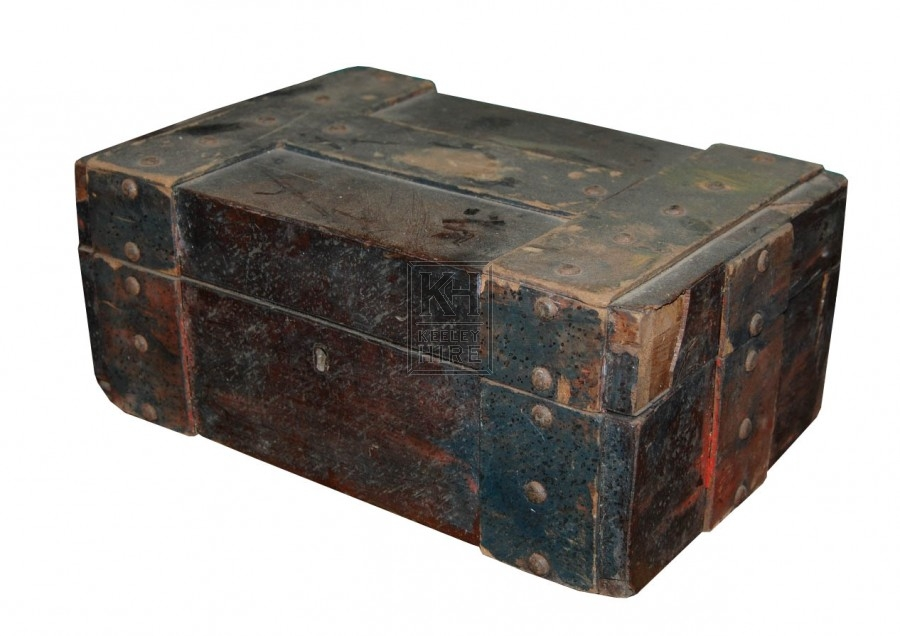 Wooden Box with Iron Bands