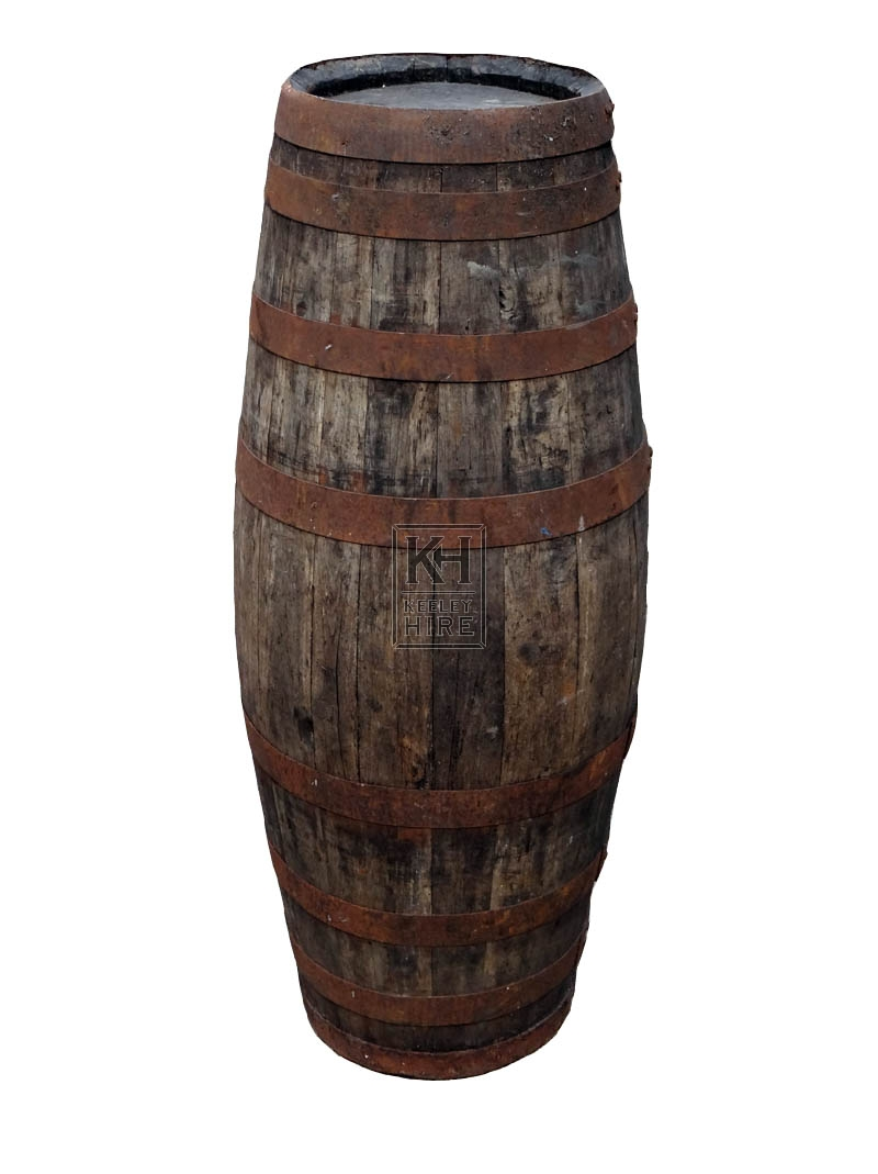Narrow iron banded pipe barrel