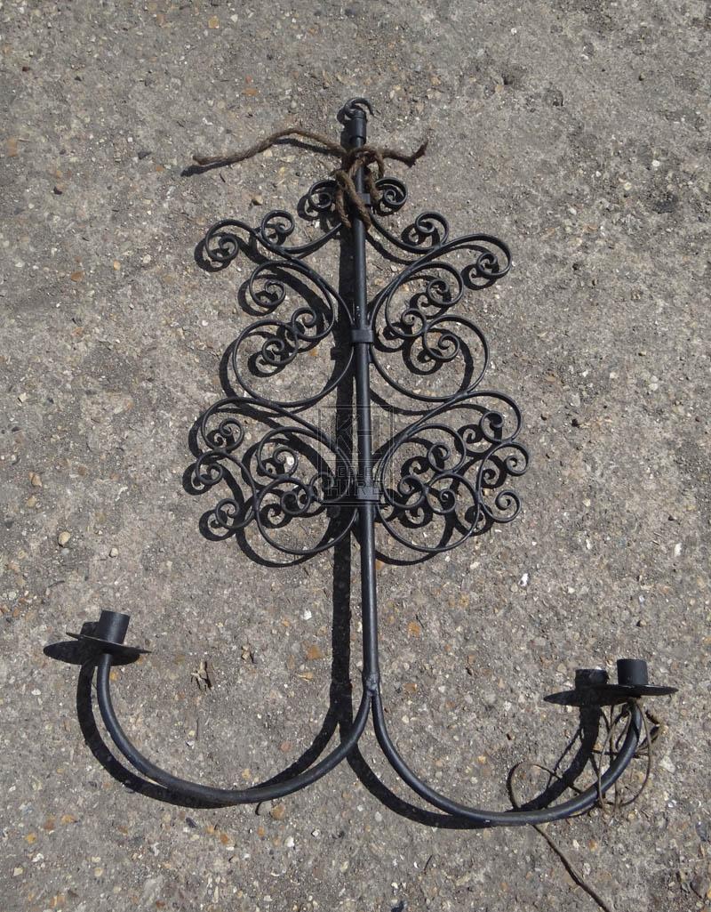 Hanging iron chandelier - 2 light