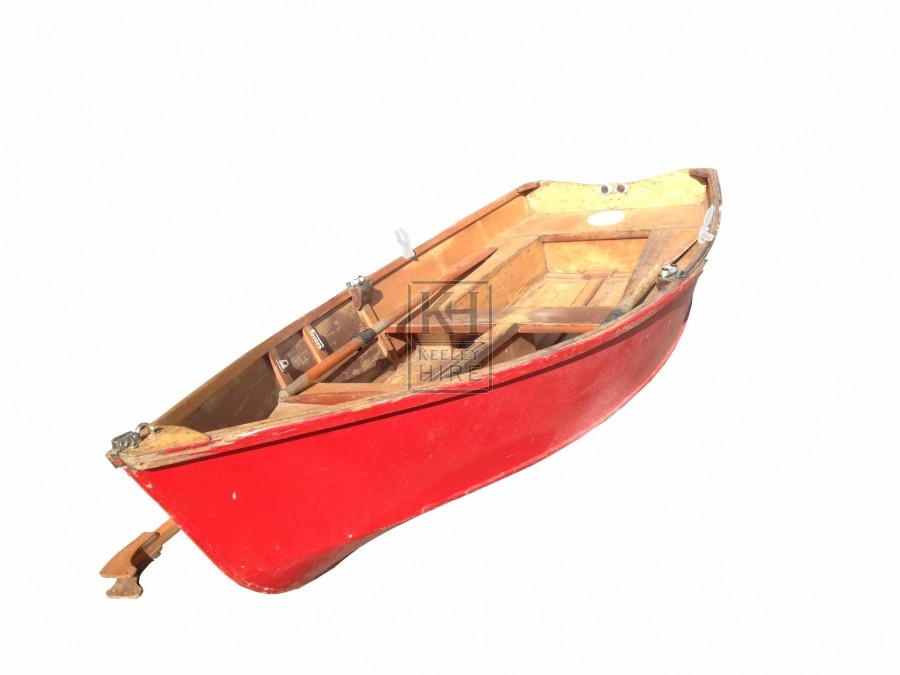 Red Clinker Boat