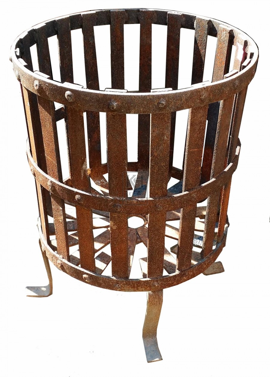 Iron brazier with rivets