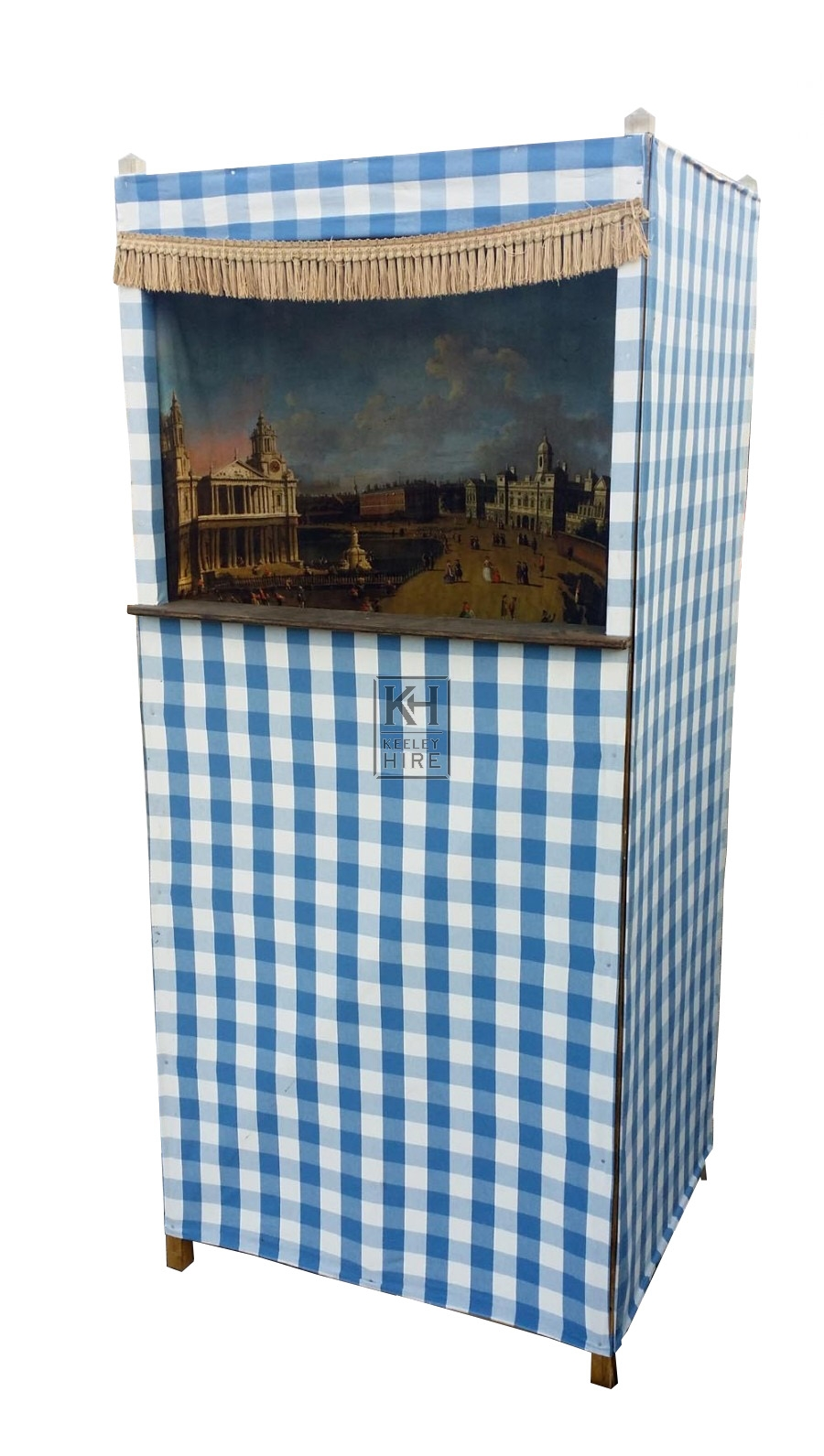 Blue stripe& white punch & judy tent
