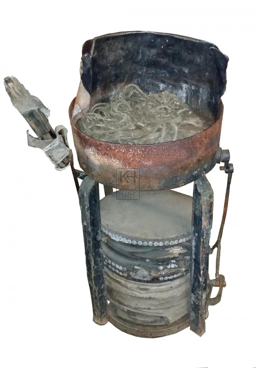 Round forge unit with bellows