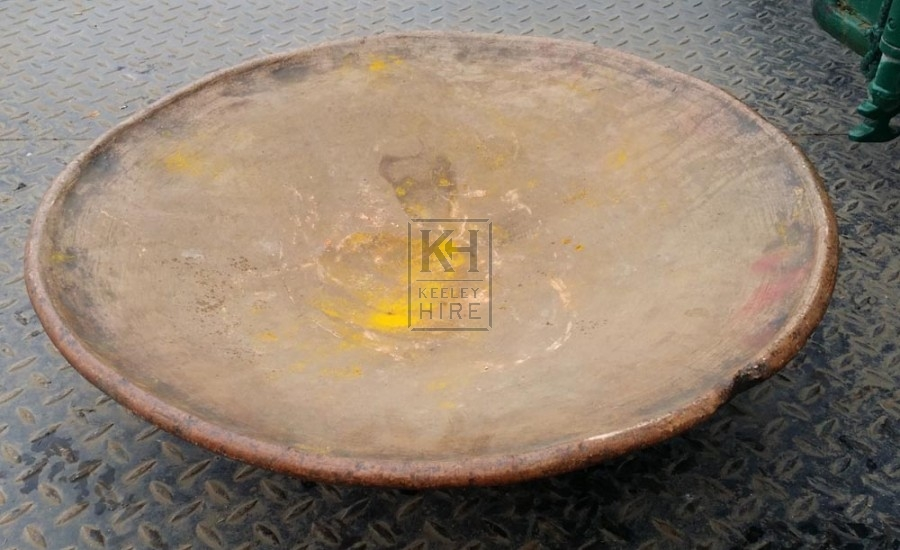 Very large raised pottery plate