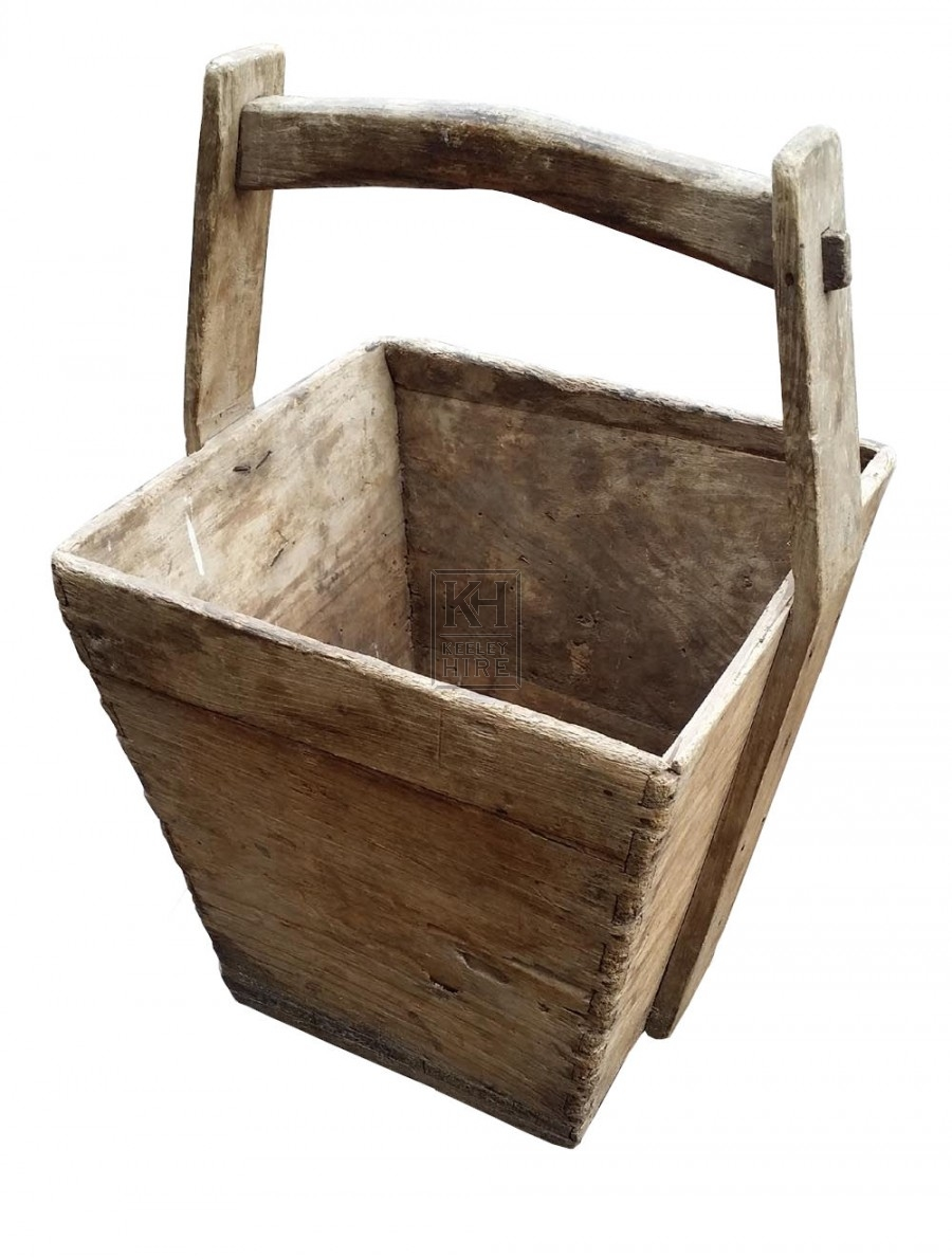 Square wood bucket