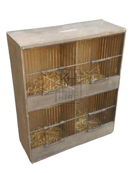 Wood & metal cages