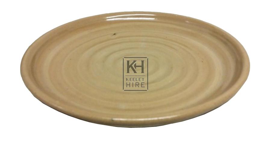 Brown glazed dinner plate