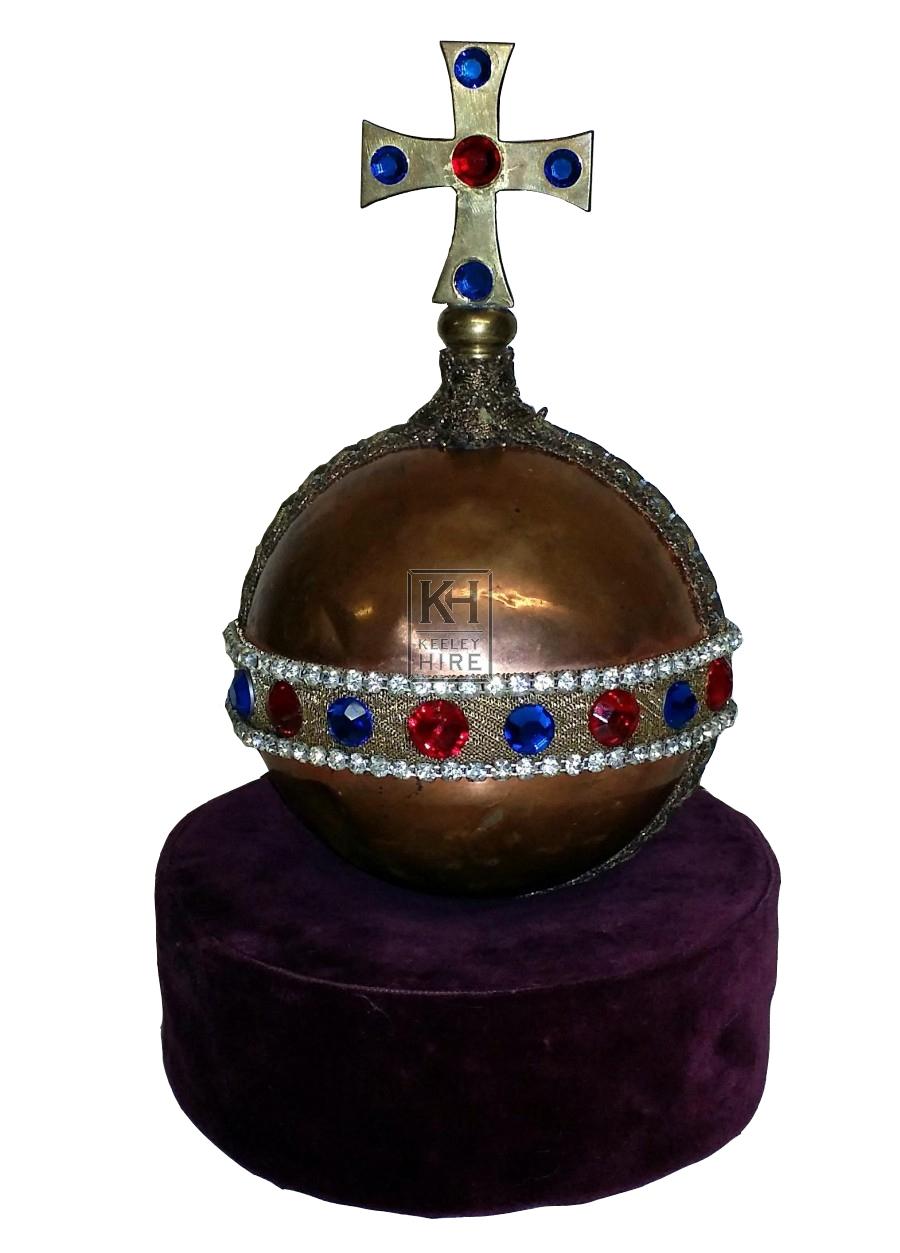 Copper orb with crucifix