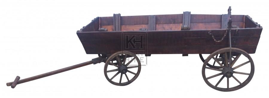Long Low 4 Wheel Dog Cart