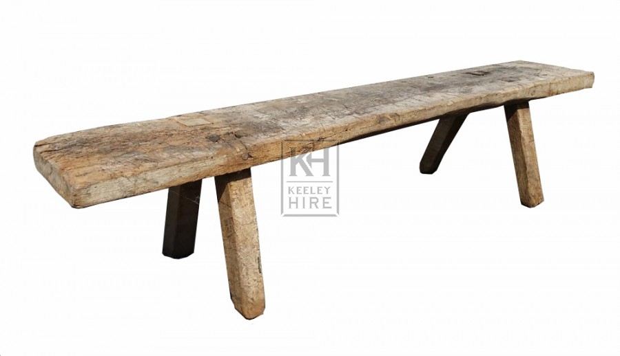 Thick wood rustic bench