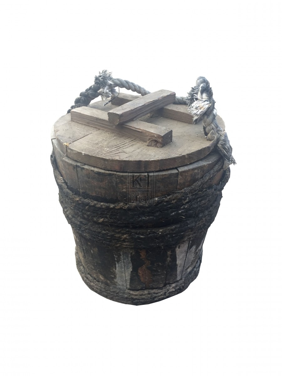Rope Handled Bucket with Lid