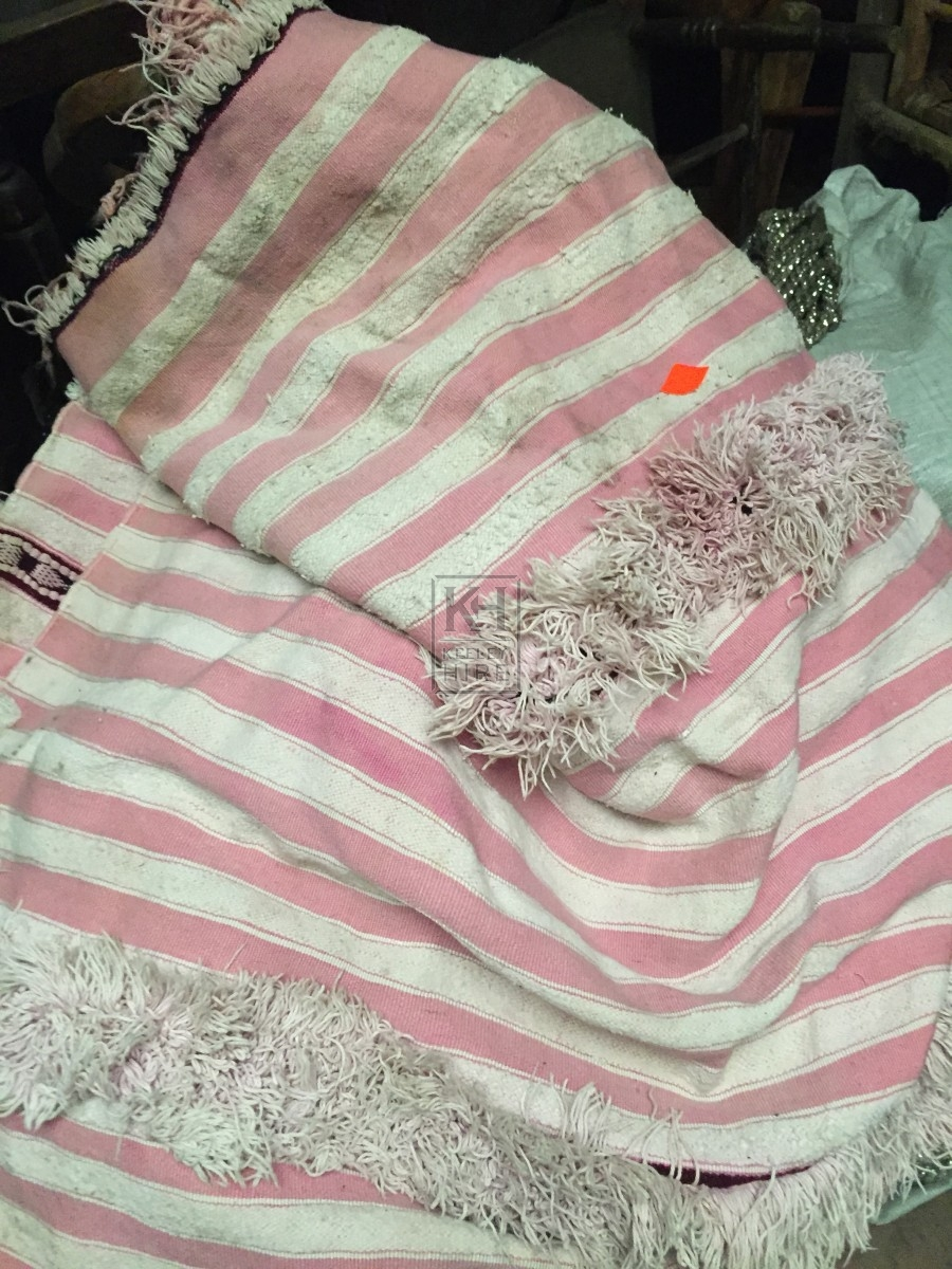 Pink and White Fabric