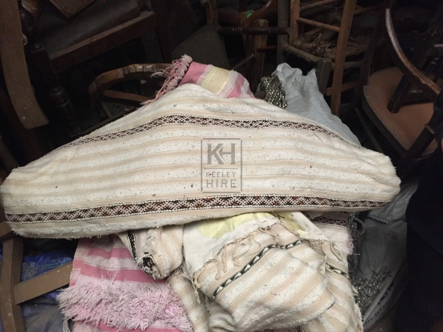 Pale Fabric with Brown Stripe