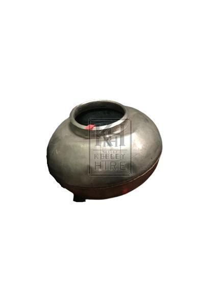 Bulbous Metal Pot