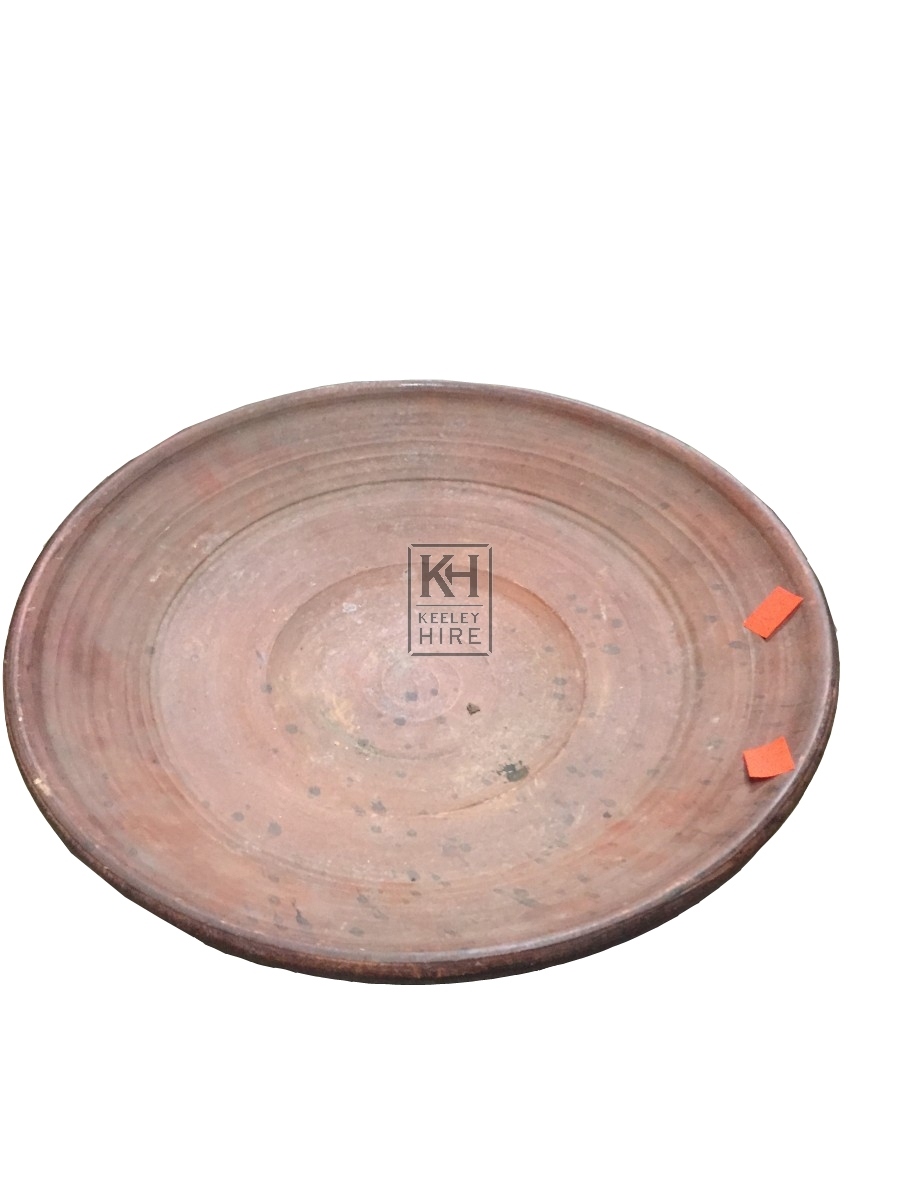 Clay Plate Unglazed