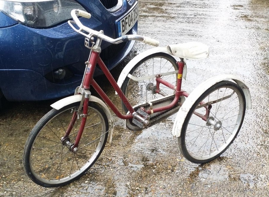 Red & white childs tricycle