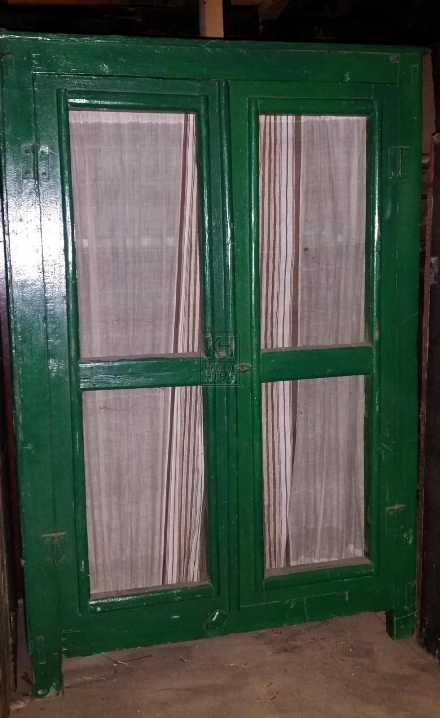 Open fronted small painted cupboard