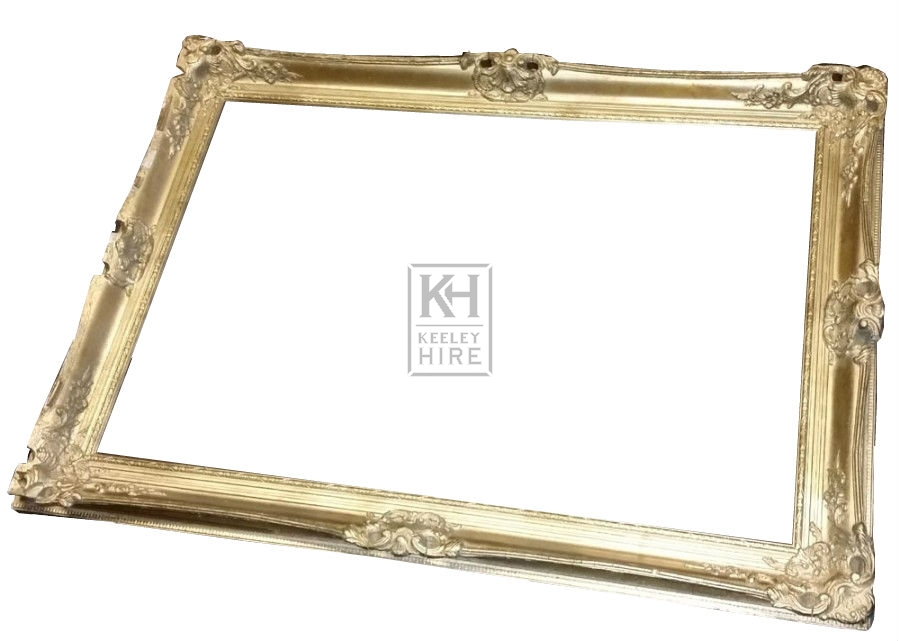 Ornate gold frame with scrolls