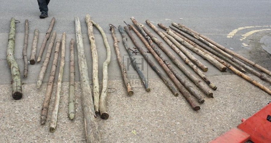 Rustic poles
