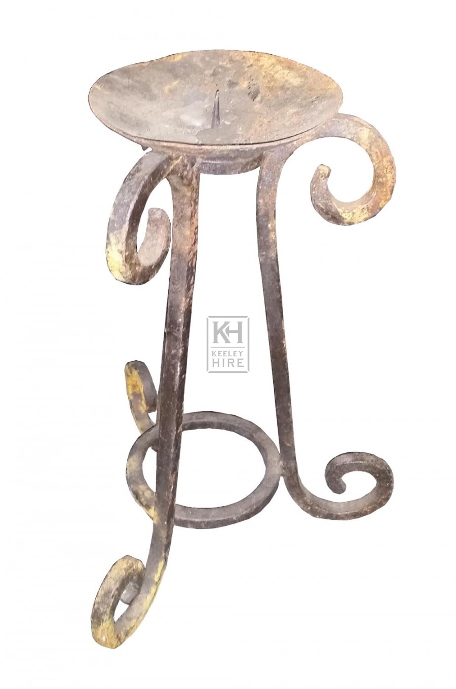 Table iron candle holder